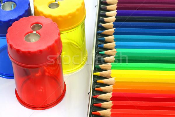 Polu ołówki farbują dzieci studentów narzędzia Zdjęcia stock © peter_zijlstra