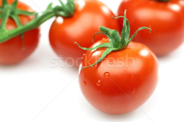 新鮮な 赤 トマト つる 白 ストックフォト © peter_zijlstra
