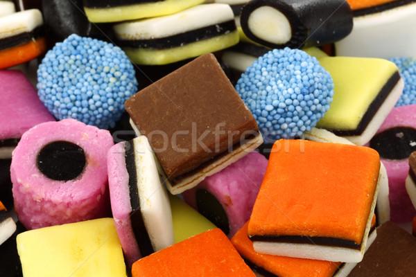 Színes cukorka textúra háttér fehér kókusz Stock fotó © peter_zijlstra