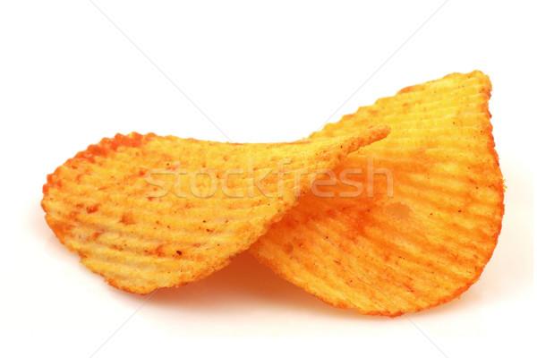 Páprica batatas fritas branco gordura batata dois Foto stock © peter_zijlstra