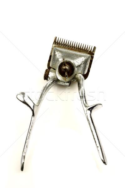 ヴィンテージ 金属 髪 トリマー 白 ストックフォト © peter_zijlstra