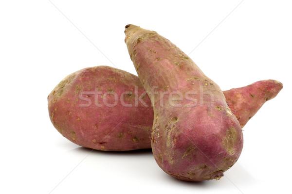 Sweet картофель белый фон красный приготовления Сток-фото © peter_zijlstra