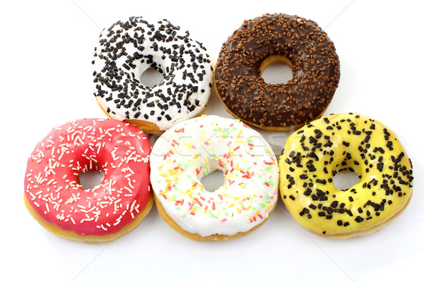assorted colorful glazed donuts Stock photo © peter_zijlstra