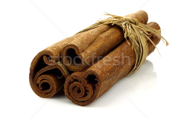 корицей белый приготовления строку Spice коричневый Сток-фото © peter_zijlstra