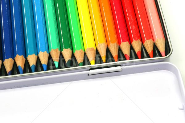 окна карандашей белый образование инструменты цветами Сток-фото © peter_zijlstra