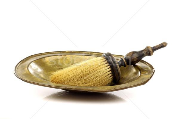 Vintage barbero herramientas blanco fondo cepillo Foto stock © peter_zijlstra