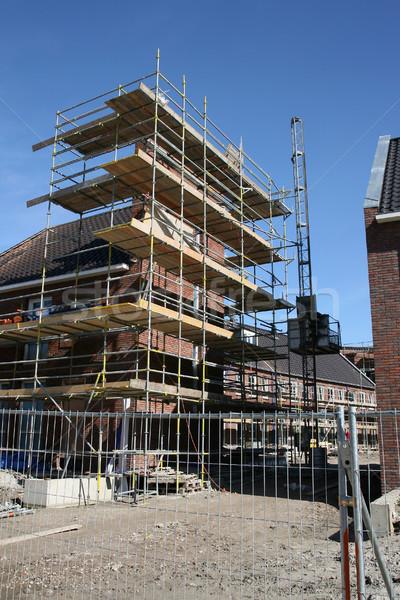 здании строительные леса дома строительство металл Сток-фото © peter_zijlstra