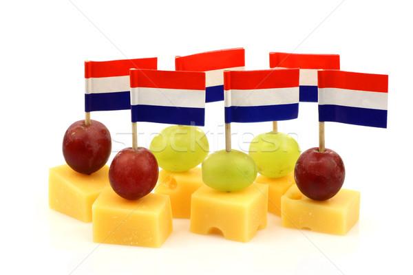 голландский сыра белый продовольствие вечеринка Сток-фото © peter_zijlstra