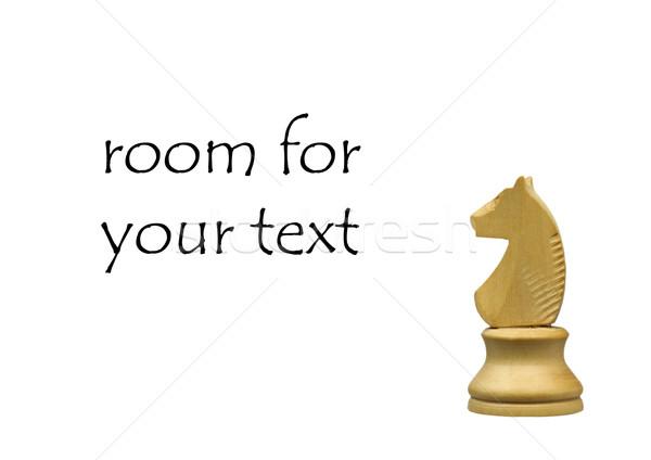 Fehér lovag sakkfigura szoba szöveg verekedés Stock fotó © peter_zijlstra
