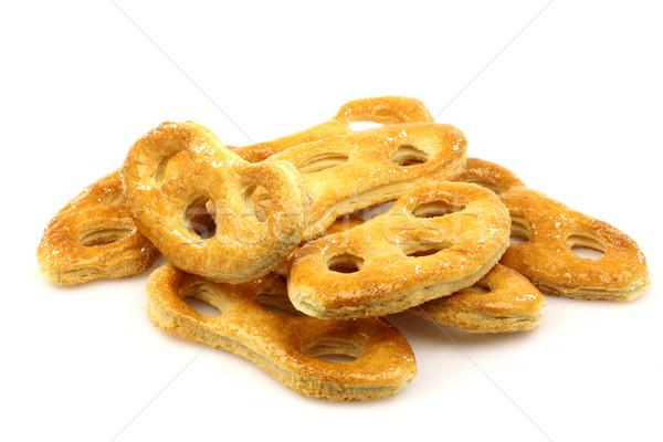 Nederlands cookies achtergrond patroon dessert zoete Stockfoto © peter_zijlstra