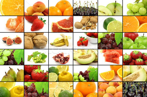 fruit collage Stock photo © peter_zijlstra