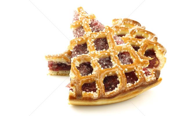 Twee ingericht cherry pie holland witte Stockfoto © peter_zijlstra