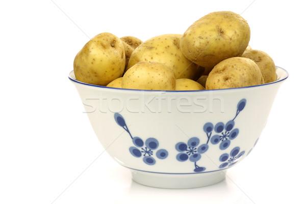 украшенный чаши свежие картофель белый растительное Сток-фото © peter_zijlstra