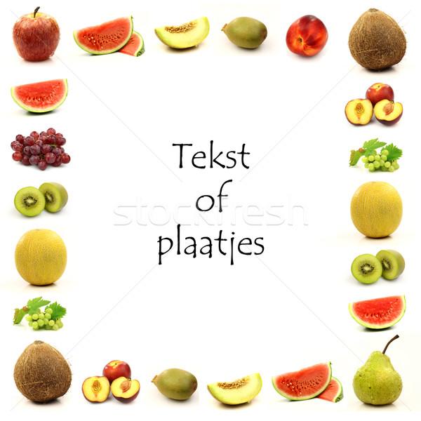 фрукты границе комнату текста фон Сток-фото © peter_zijlstra