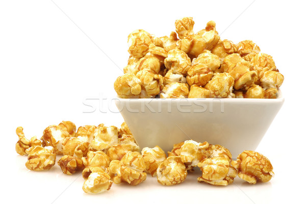 pieces of caramel  popcorn in a  bowl Stock photo © peter_zijlstra