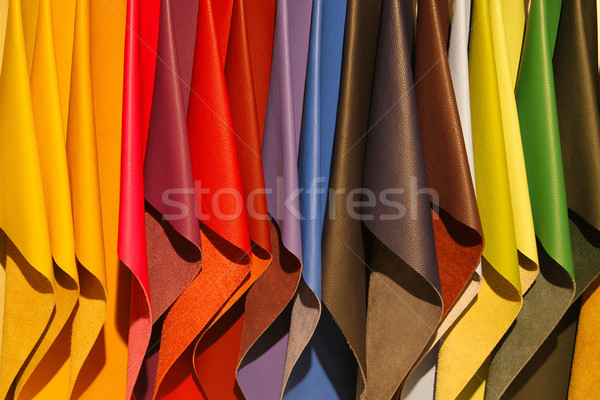 leather samples Stock photo © peter_zijlstra