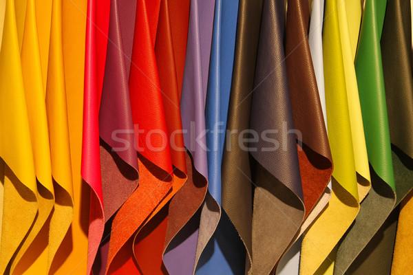 Bőr minták színes textúra divat narancs Stock fotó © peter_zijlstra