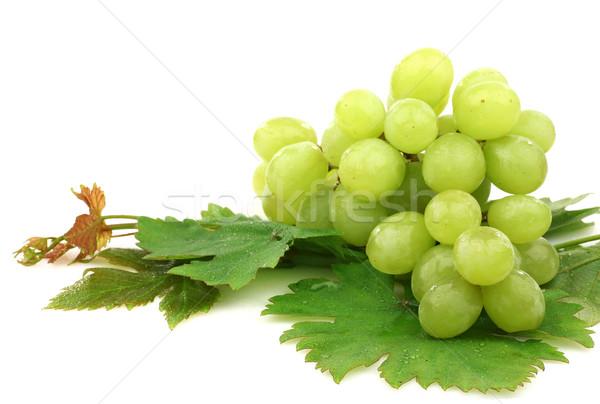 Beyaz üzüm yeşillik gıda meyve yaprakları Stok fotoğraf © peter_zijlstra