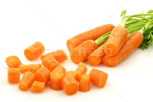 Cut свежие морковь белый оранжевый обеда Сток-фото © peter_zijlstra