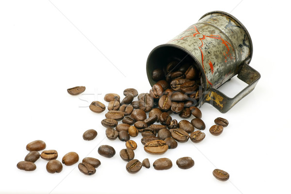 measuring cup with coffee beans  Stock photo © peter_zijlstra