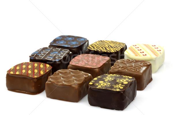 assorted decorated luxury chocolate bonbons Stock photo © peter_zijlstra