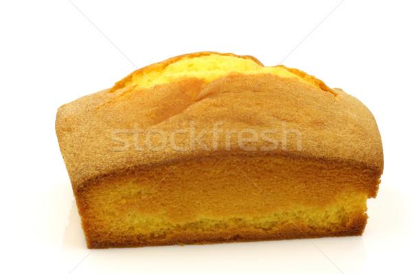 ケーキ 白 食べ ストックフォト © peter_zijlstra