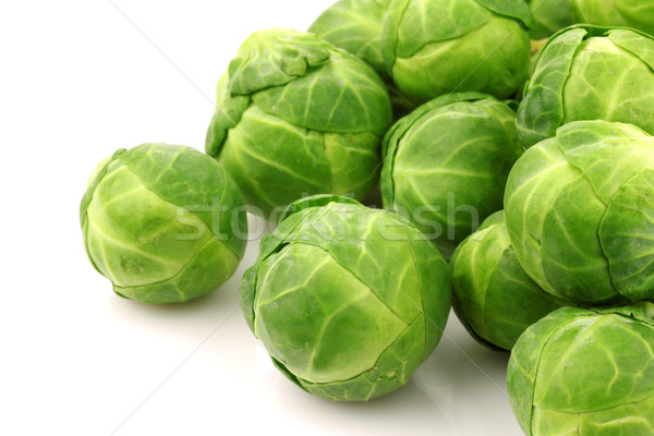 Freshly harvested Brussel sprouts Stock photo © peter_zijlstra
