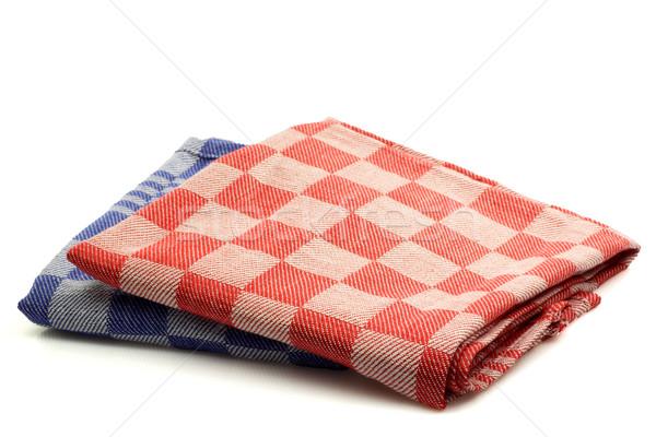 カラフル キッチン タオル 白 赤 ストックフォト © peter_zijlstra