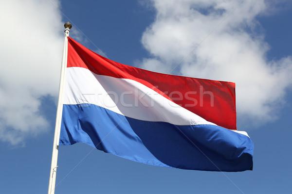 голландский флаг свободы день Blue Sky облака Сток-фото © peter_zijlstra