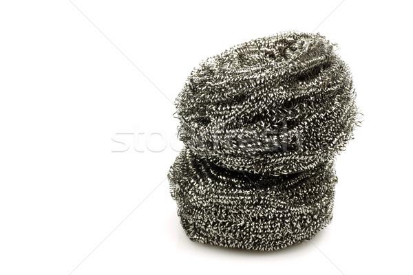 два стали проволоки белый металл Сток-фото © peter_zijlstra