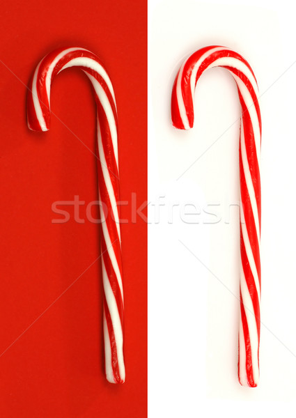 two christmas candy canes Stock photo © peter_zijlstra