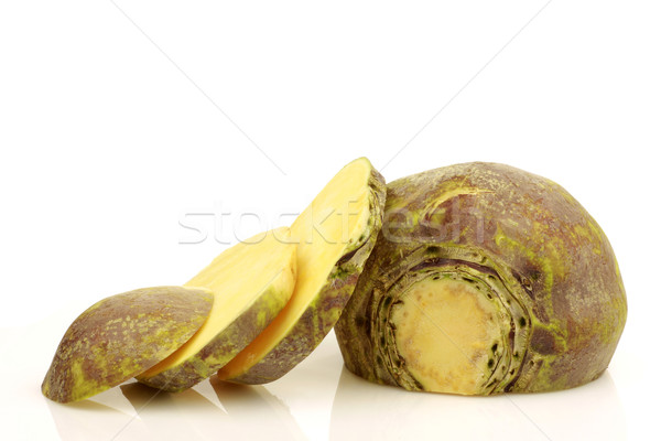 Stock photo: fresh turnip(brassica rapa rapa)