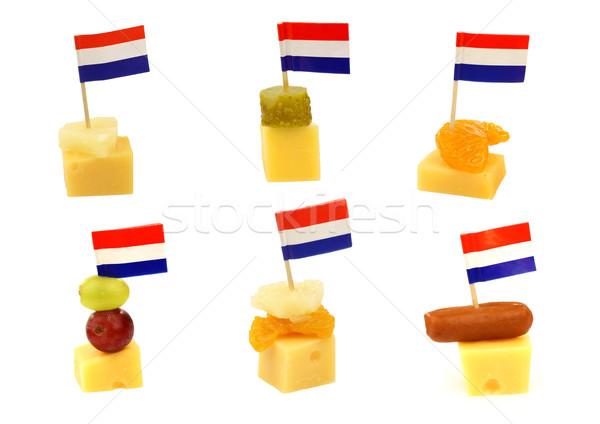 Сток-фото: голландский · сыра · флаг · продовольствие · вечеринка