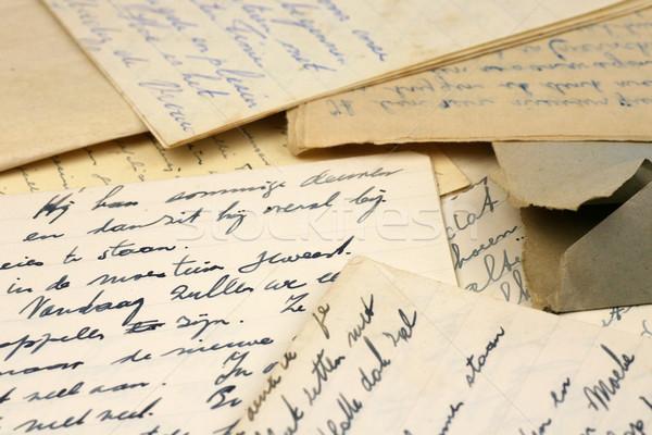 старые письма семьи друзей контакт Сток-фото © peter_zijlstra