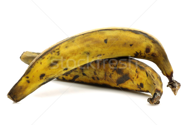 two plantain (baking) bananas  Stock photo © peter_zijlstra