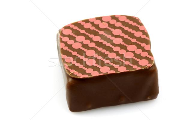 Сток-фото: украшенный · роскошь · шоколадом · белый · конфеты