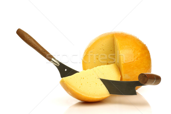 Dutch Edam cheese with a cheese cutter  Stock photo © peter_zijlstra