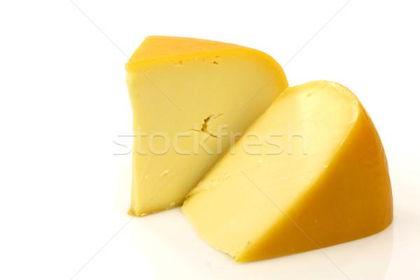 Traditioneel kaas stukken witte voedsel Geel Stockfoto © peter_zijlstra