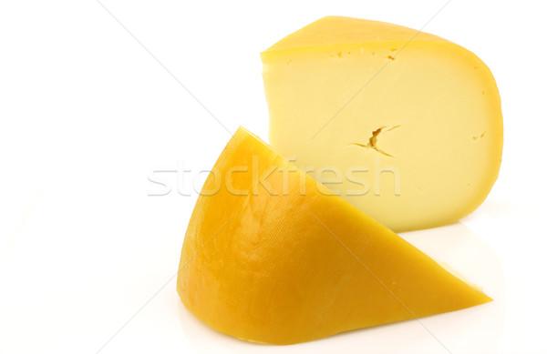 traditional Gouda cheese pieces Stock photo © peter_zijlstra