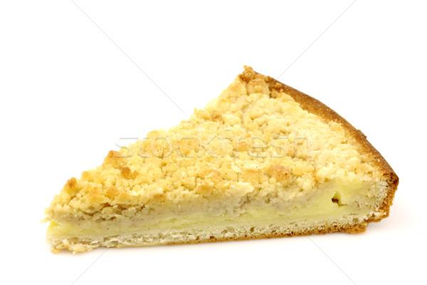 slice of rice and cream pie called 'vlaai' Stock photo © peter_zijlstra