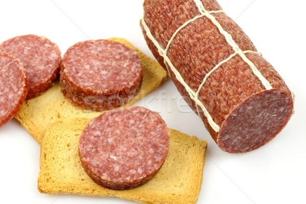 Worst en toast witte vlees Stockfoto © peter_zijlstra