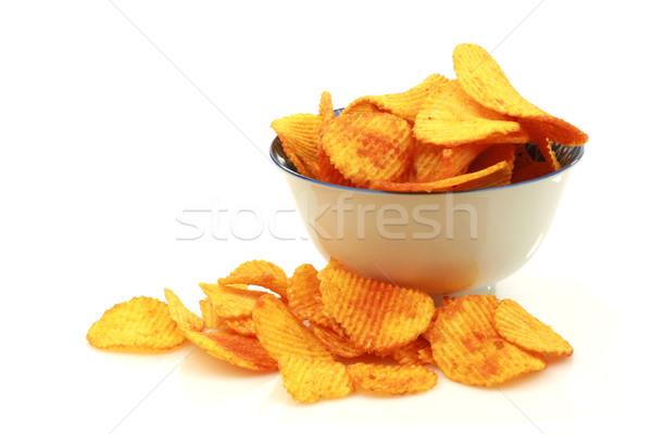 bowl of paprika chips Stock photo © peter_zijlstra