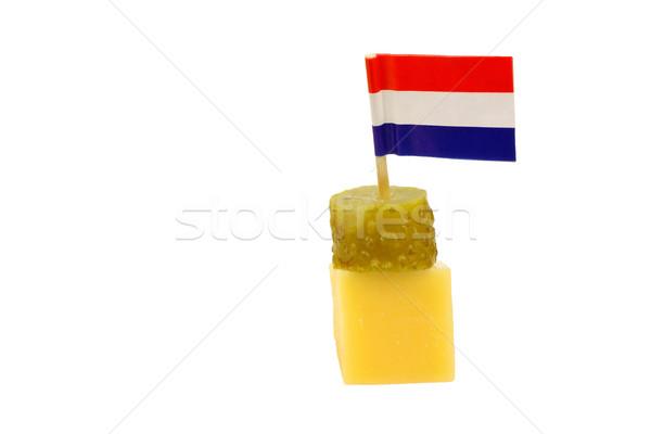голландский сыра мало флаг вверх Сток-фото © peter_zijlstra