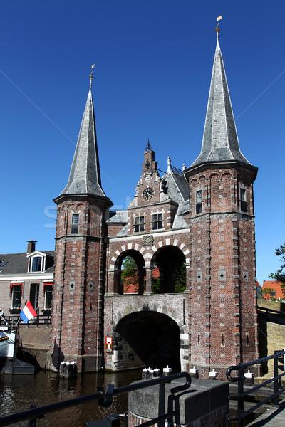 Сток-фото: старые · воды · ворот · Голландии · здании · лет