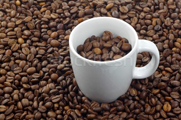 Kávéscsésze kávé textúra kávé háttér ital Stock fotó © peter_zijlstra