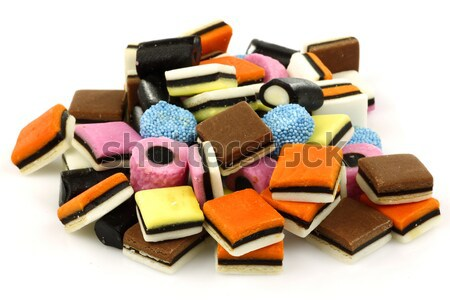 bunch of sweet, tasty and colorful licorice all sorts Stock photo © peter_zijlstra