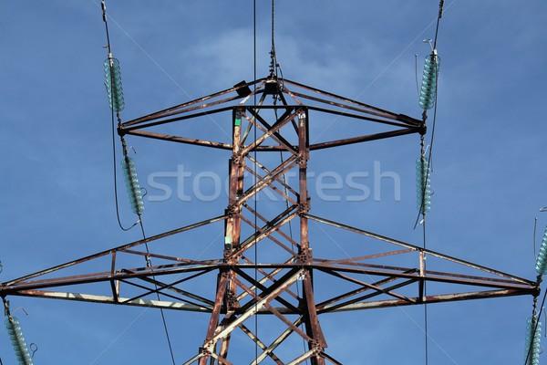 さびた 電気 詳しい 空 青 ケーブル ストックフォト © peterguess