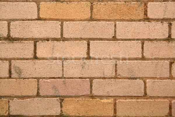 レンガの壁 セクション 壁 砂 石 レンガ ストックフォト © peterguess