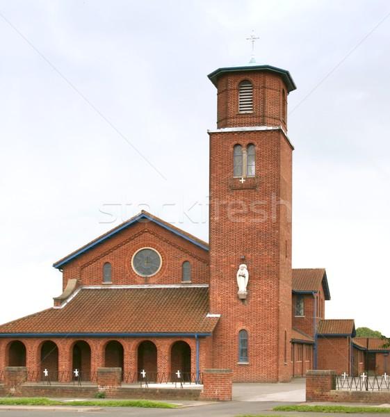 現代 教会 建物 レンガ 像 ストックフォト © peterguess