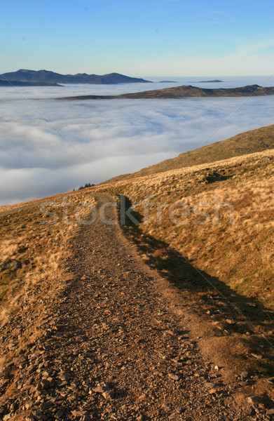 Mountain Path And Cloud Inversion Stock photo © peterguess